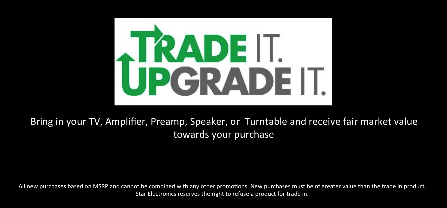 Trade it Upgrade it